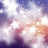 Starry background. Smooth and blured stars on blue and magenta background. Space cartoon background Royalty Free Stock Photos