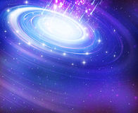 Starry background of stars. Astronomy background bright deep field galaxy royalty free illustration