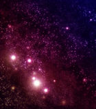 Starry background of stars and nebulas Royalty Free Stock Photography