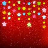 Starry background for Your design. Red starry background for Your design Royalty Free Stock Image