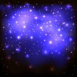 Starry bakgrund för blått Royaltyfria Bilder