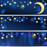 starry bakgrunder Fotografering för Bildbyråer