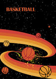 Starry basketball Stock Image