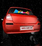 starry bilclaus santa sky Royaltyfri Bild