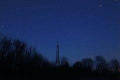 starry blå natt Fotografering för Bildbyråer