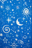 Starry blue background Royalty Free Stock Photo