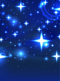 Starry blue night. Illustration starry blue night star line dust background bottom card background graphic Stock Images