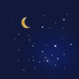 Starry blue sky. In the night Royalty Free Stock Photo