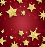 Starry Border for Merry Christmas and Happy New Royalty Free Stock Photography
