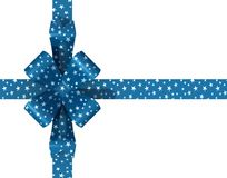 Starry bow. And ribbon on white background Stock Image