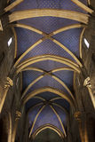 A gothic cathedral ceiling in Neuchatel, Switzerland Royalty Free Stock Photo