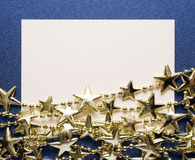 Starry Christmas card Stock Image