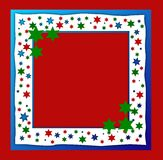 Starry Christmas frame Royalty Free Stock Images