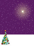 Starry Christmas night Royalty Free Stock Images