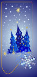 Starry Christmas Night Stock Images