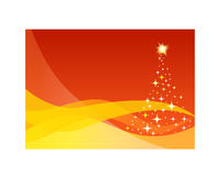Starry Christmas tree stock illustration