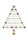 Starry Christmas tree Royalty Free Stock Images