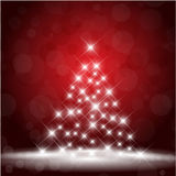 Starry Christmas tree Royalty Free Stock Photo