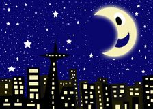 Starry city night Royalty Free Stock Image
