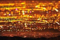Starry City Night Scene. Night city landscape of Taiwan taken with Triple Exposure Stock Photo