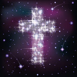 Starry Cross Stock Photos