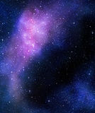Starry deep outer space nebual and galaxy. Deep outer space background with stars and nebula Royalty Free Stock Photos