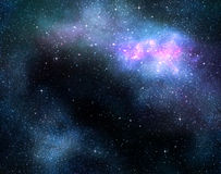 Starry deep outer space nebual and galaxy Royalty Free Stock Photo