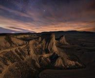 Starry desert Stock Images