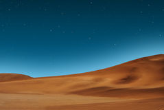 Starry desert sky Royalty Free Stock Images