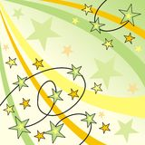 Starry design. Abstract starry design in bright colors Royalty Free Illustration