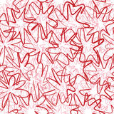 Starry doodles seamless pattern. Stock Images