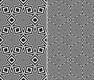 Starry Elements Seamless Patterns Stock Photos