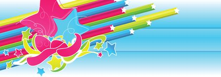 Starry explosion. Starry design banner for celebration Royalty Free Stock Images