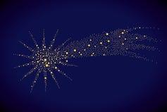 starry fallande stjärna Royaltyfri Fotografi