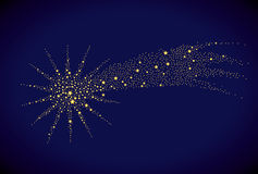 Starry falling star Royalty Free Stock Photography