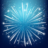 Starry firework Stock Images