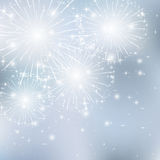 Starry firework. Set of sparkle firework on gray background, illustration Royalty Free Stock Photography