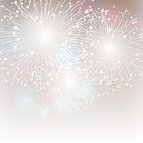 Starry fireworks Stock Image