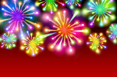 Starry fireworks background with place for text Stock Photos