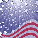 Starry flag Stock Photo