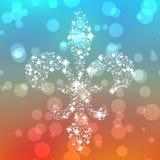 Starry fleur de lis silhouette with bokeh Stock Photos