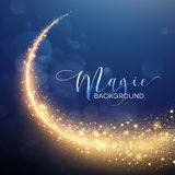 Starry Glitter Trail Background. Vector Stock Photography
