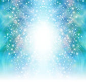 Starry glittery green sparkling background royalty free illustration
