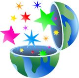 Starry globe Stock Photography