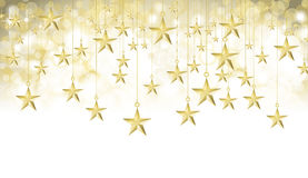 Starry gold banner Stock Photos