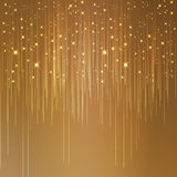 Starry golden background Stock Photo