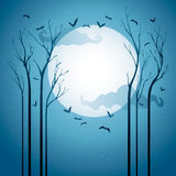 Starry Halloween natt Arkivbilder
