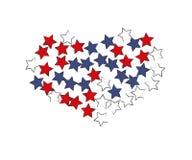 Starry Heart. Vector Design stock illustration