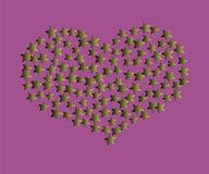 Starry Heart. Vector Design vector illustration