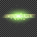 Starry Light Background. Green Glowing Lines. Speed Motion Effect. Sparcle Glitter Trail Royalty Free Stock Images